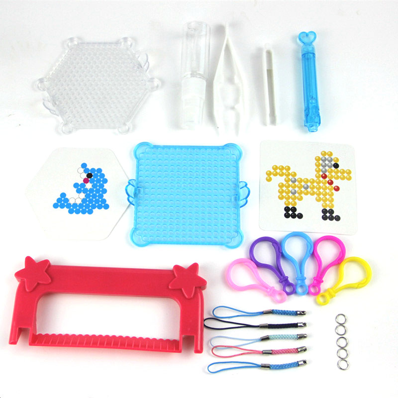 Water Aqua beads pegboard sticky beads Accessories fuse beads jigsaw puzzle Water beadbond educational toys diy
