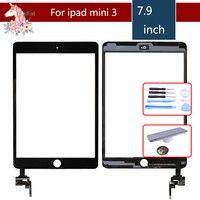 Для Apple iPad mini 3 Mini3 A1599 A1600 сенсорный экран с IC и адгезивным дигитайзером Замена переднего стекла