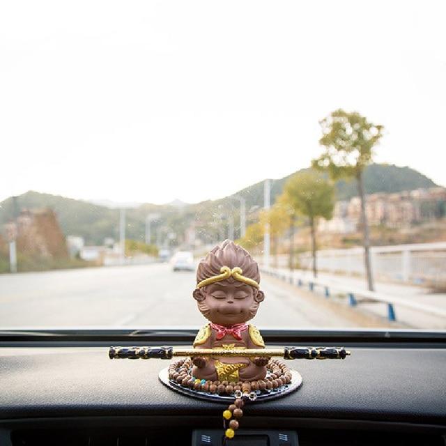 Car Interior Decoration Sun Wukong Creative Cute Monkey Cart Upload