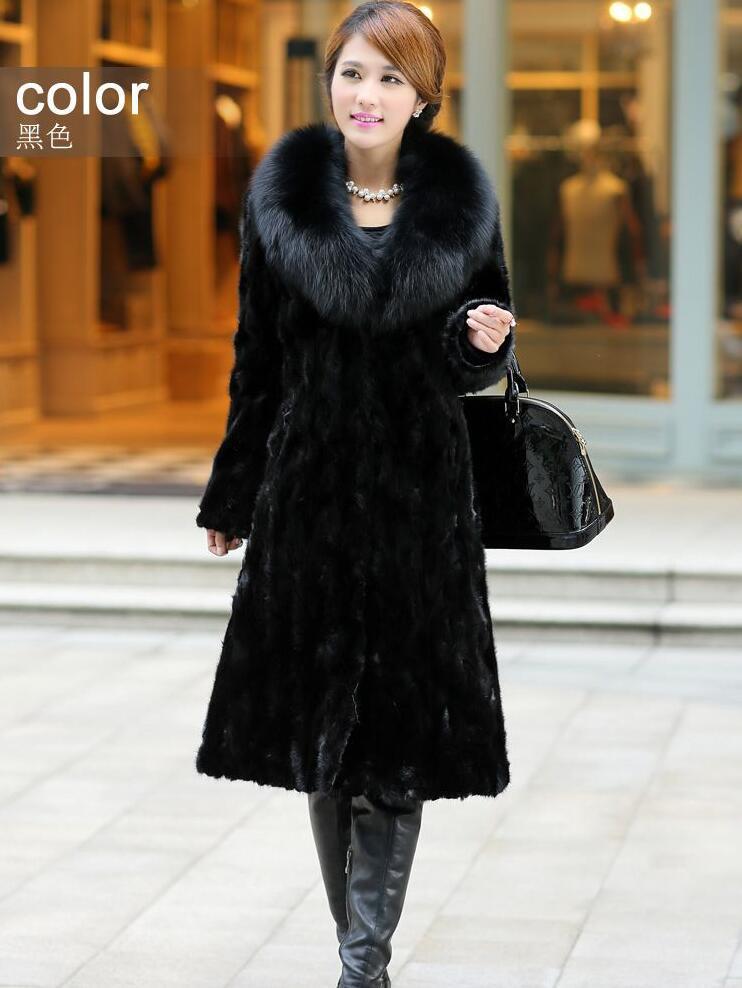 Faux mink leather jacket women jaqueta de couro masculino fox collar womens coats chaqueta hombre 2017