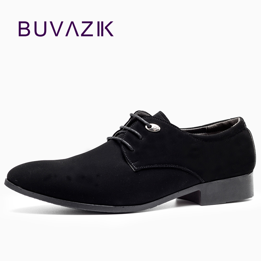 2017 Nytt lær menn mote Oxfords for menn Wedding Dress Shoes Zapatos Hombre Mens Suede Casual sko