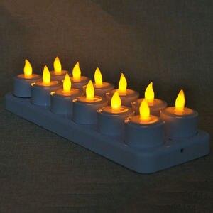 Image 4 - Набор из 12 пультов дистанционного управления, светодиодный, мерцающие, перезаряжаемые, чайные ОГНИ/Свеча электроника, лампа, Рождество, свадьба, бар