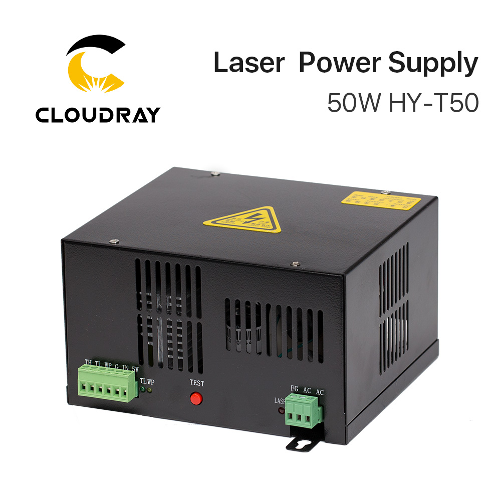 """""""Cloudray"""" 50 W CO2 lazerio maitinimo šaltinis, skirtas CO2 - Medienos apdirbimo mašinų dalys - Nuotrauka 2"""