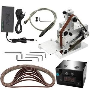 Image 5 - 110 240V Multifunctional Mini Electric Belt Sander Electric Grinder DIY Polishing Grinding Machine Cutter Edges Sharpener