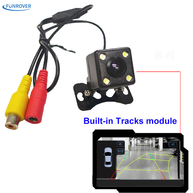 HD CCD Night Vision Car Trajectory Reversing Rearview Backup Camera with Auto-changeable Parking Lines + Built-in Sensor Module