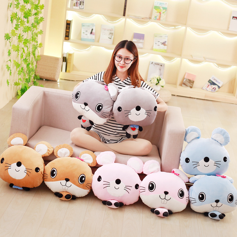 100X170cm Plush Mouse Portable Blanket Stuffed <font><b>Toy</b></font> Doll Hands Warmer Baby Shower Car Travel Rug Office Nap Carpet