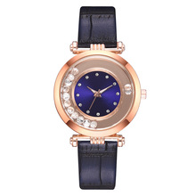 Korean fashion rhinestone ball watch crocodile pattern PU leather ladies quartz quick sand diamond