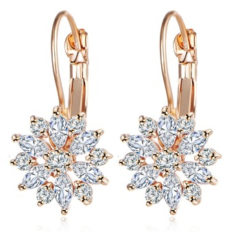 Женские винтажные кристаллические серьги-гвоздики