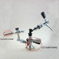 Homebrew draft beer dispenser kit keg coupler with beer faucet and regulator