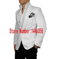 Latest Coat Pant Designs 2017 Tailored Groomsmen Shawl Lapel Groom Tuxedos Red/White/Black Men Suits Wedding Best Man Blazer