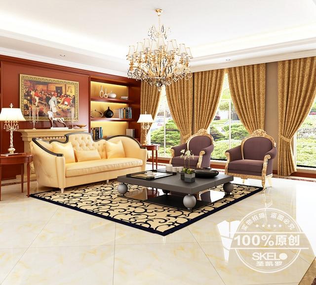 Ceramic Tile Living Room Floor Pics Of Modern Farmhouse Rooms 800 Foshan Tiles Gold Glossy Glazed Background
