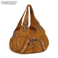 Glossy Leather Handbags 2015 England Style Ladies Tote Handbags New Designer Shoulder Bag Solid Zipper Messenger