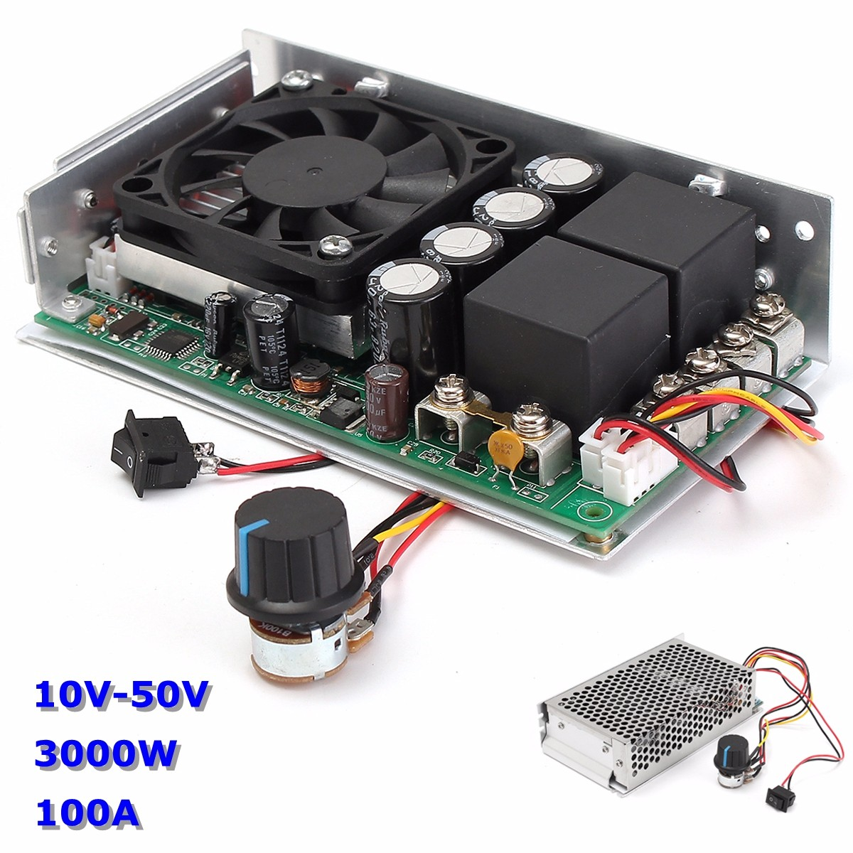 10-50V DC 100A 3000W Programable Reversible DC Motor Speed Controller PWM Control Reversible Electric Motor dhl ems moeller easy 412 dc r programable controller easy412 dc r c3 d9