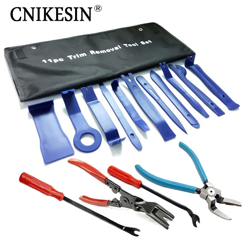CNIKESIN Auto Innen Entfernung Reparatur Tools Fastener Clip Zangen Auto Tür Panel Installer Reparatur Entfernung Werkzeug Kunststoff Hebeln Werkzeug