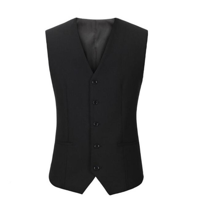 Formal occasio man suit vest custom cheap high quality waistcoat single-breasted ma3 jia3 business worker men vest