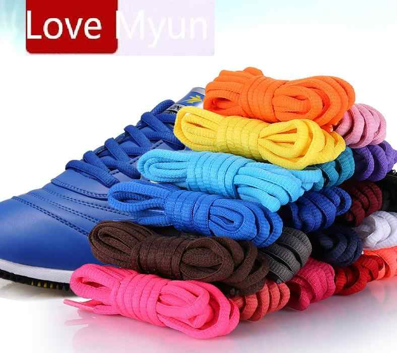 Wholesale Ellipse Semicircle Shoelaces Sneakers Boots Shoeslaces Casual Sports Shoe laces Black White Red Blue Green Pink Brown