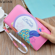2018 New Fashion Women Wallet Clutch Bag Famous Brand Lady Wallet Long Zipper Printing Wallet Female Phone Bag Carteras Mujer