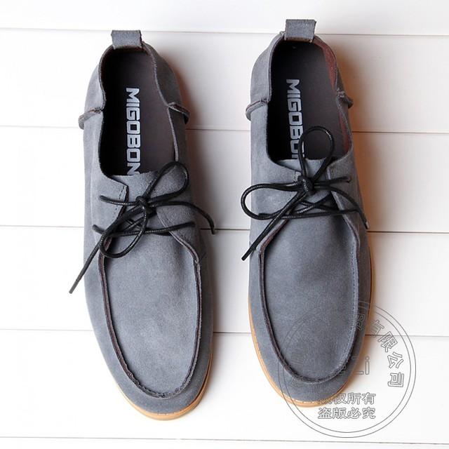 Designer Rock Pure Color Punk Damping Bucks Shoes Suede Cut-outs Casual Shoes Men Plain Italian Shoes Men Flat-bottomed Matte