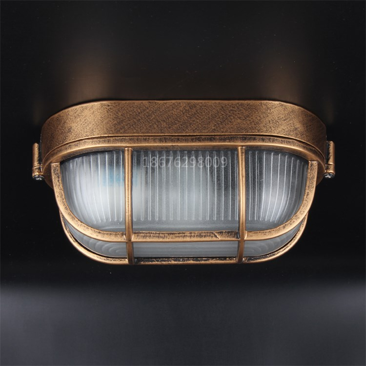 IWHD Retro Vintage LED Ceiling Light Fixtures Waterproof Kitchen Hallway Balcony Plafondlamp Ceiling Lamp Luminaria De Teto