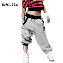 BHflutter Pants Women Plus Size Harem Hip Hop Pants Streetwear High Waist Dance Pants 2018 Winter Long Trousers Pantalones