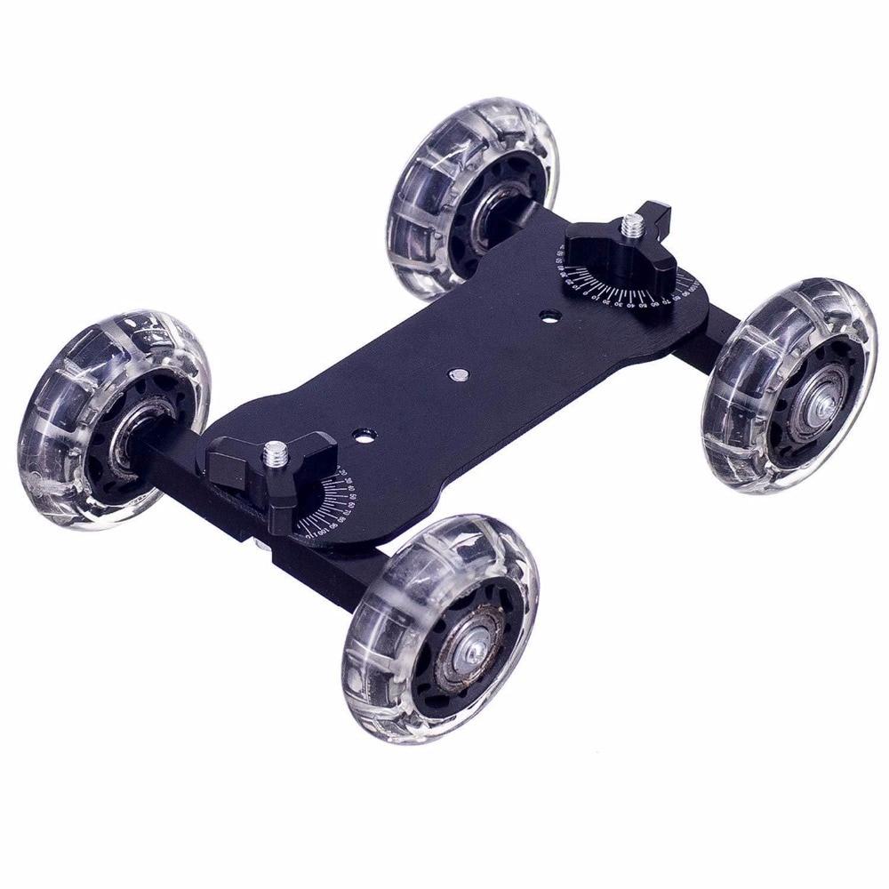 Desktop DSLR Camera Video Rail Car With  Hand Push Rod Monopod Pole Magic Arm For Canon 60d 650D Nikon Sony Gopro HERO 7 6 5 4
