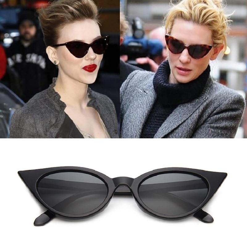 2019 новинка кошачий глаз солнцезащитные очки для женщин бренд дизайнер винтажные солнцезащитные очки Cateye зеркало очки