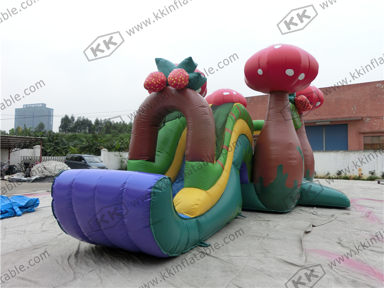 Party Rental Inflatable Mushroom Bounce House with Slide