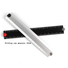 Angle measuring tool ruler aluminum folding 15-30cm DIY multi-function