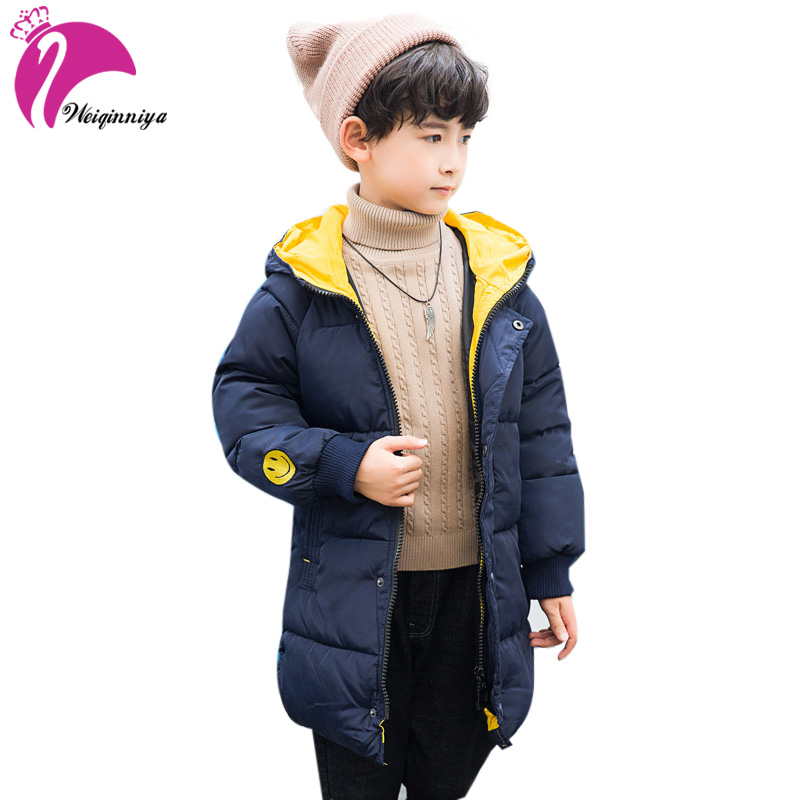 weiqinniya Boys Down Parkas Jackets Winter Down Coat Russian For Boy 2018 Kids Windbreaker Hooded Jacket Boy Thick Hooded Jacket цена