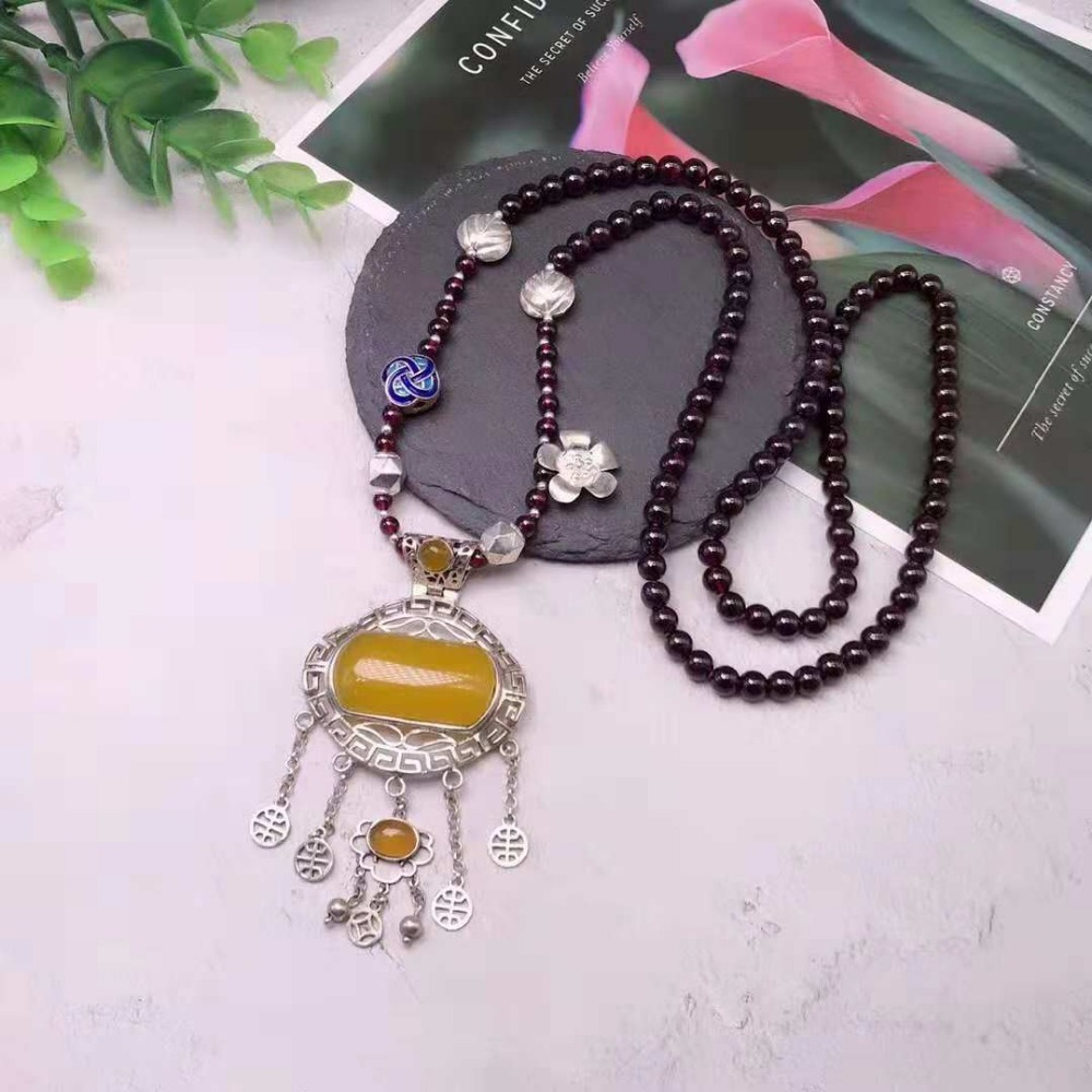 JOOCHEER Sterling S925 925 silver necklace charm chain bohemia vintage trendy fish Pendant Totems Pendant classic ethnic