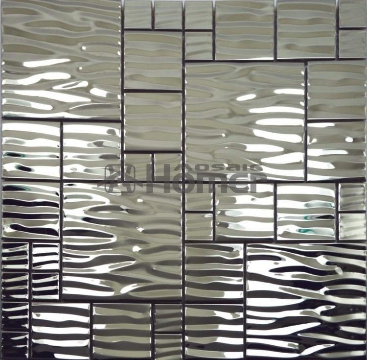 """12x12 """"nerezová kovová stěna TILE pro koupelnové kuchyně Backsplash Sprchové mozaikové dlaždice doprava zdarma"""