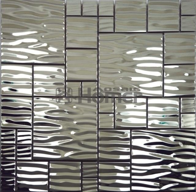 12x12 Stainless Steel Metal Wall Tile For Bathroom Kitchen Backsplash Shower Mosaic Tiles Free Shipping