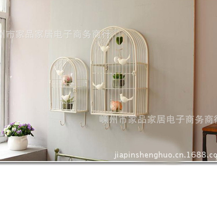 European-style wrought iron door flower mural wall hangings Birdcage King decorative wall racks with hook iron king cr 26
