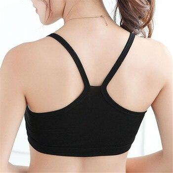 New Women Solid Strap Underwear Cotton Yoga Bra Vest Crop Top Running Gym Sports Bra 8 Colors 10