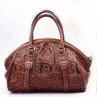 Luxury 100 Genuine Leather Women Bag Handbag Fashion Retro Dumplings Shell Tote Top Cowhide Embossed Ladies