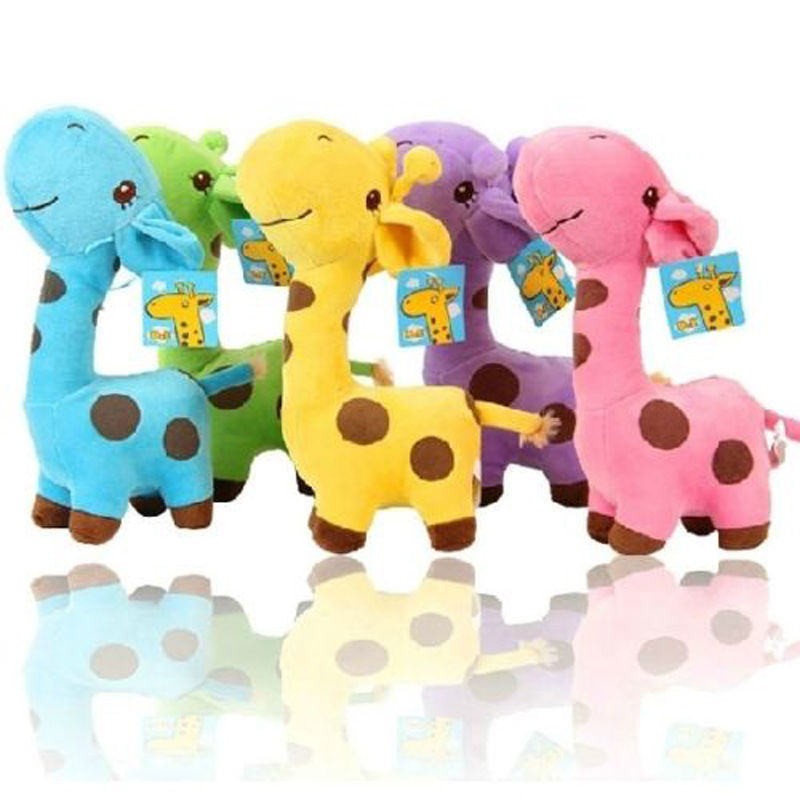 1 PC Unisex Cute Gift Plush Giraffe Soft Toy Animal Dear Doll Baby Kid Child Girls Christmas Birthday Happy Colorful Gifts super cute plush toy dog doll as a christmas gift for children s home decoration 20