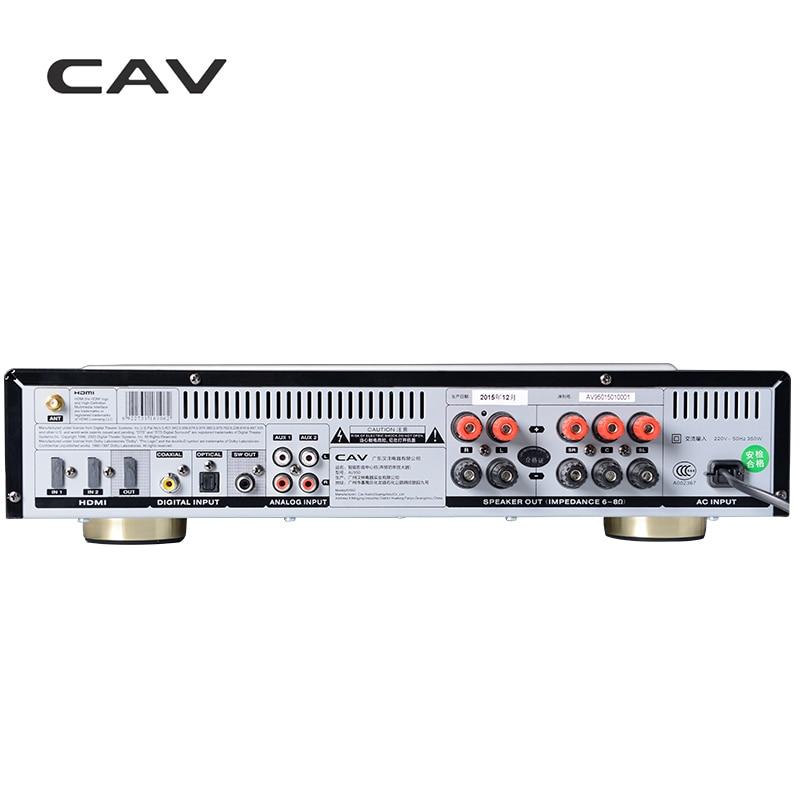 Электрические плиты CAV AV950 аудио усилитель Главная Театр 5,1 DTS усилитель HDMI Bluetooth High Fidelity Мощность для динамики ведущих декодирования (Фото 1)