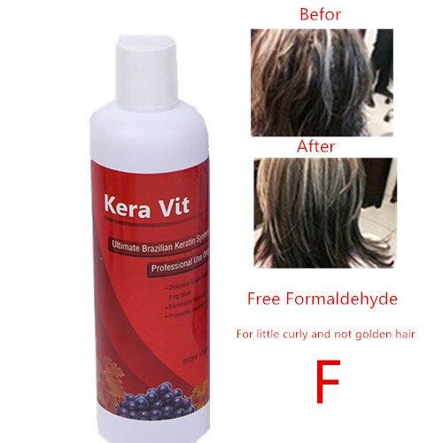New New!!! 500ML Hot sale Brazilian hair keratin treatment  Free Formaldehyde treatment damage hair Free shipping