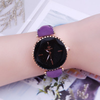 Fashion prismatic glass ladies watch starry gear simple scale student quartz watch
