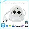 ONVIF 1MP CMOS IR CUT H.264 1MP HD 720 P HD IP P2P câmeras dome XMEye APP para o Telefone Inteligente