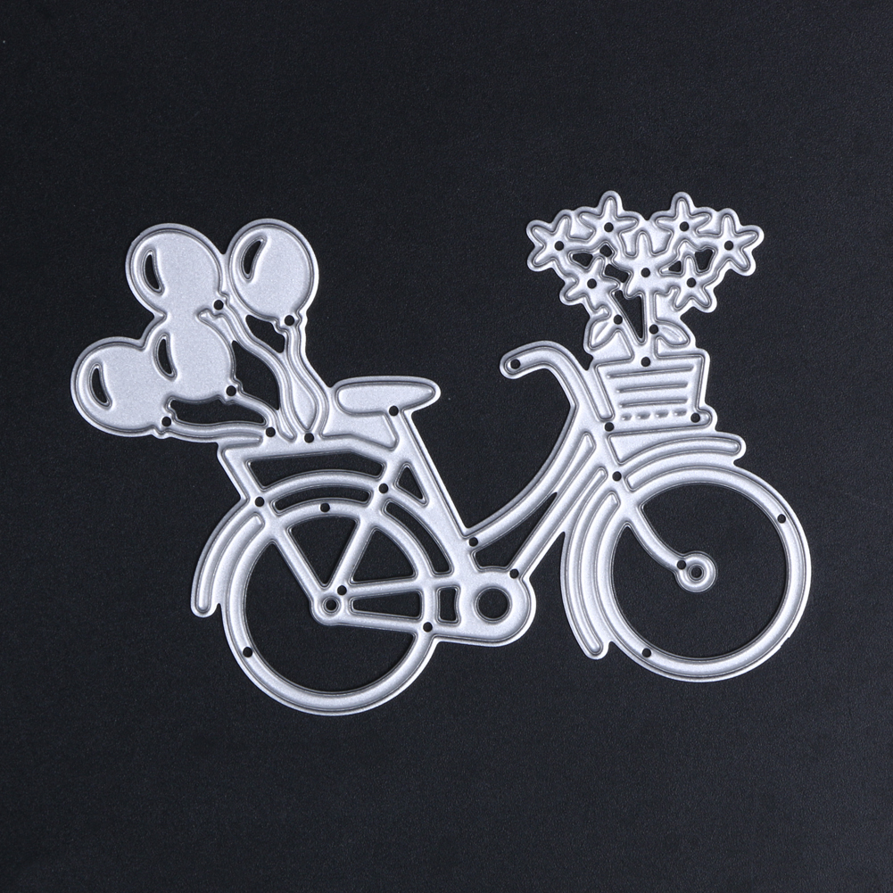 Scrapbook paper decor - Single Die Bike Bicycle Metal Cutting Dies Stencil Art Embossing Painting Decor For Scrapbooking Paper Card Album Photo Craft In Cutting Dies From Home