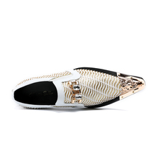 Christia Bella Fashion White Wedding Shoes Glitters Mens Pointed Toe Bling Bling Casual Dress Shoes Luxury Brand Oxford Shoes