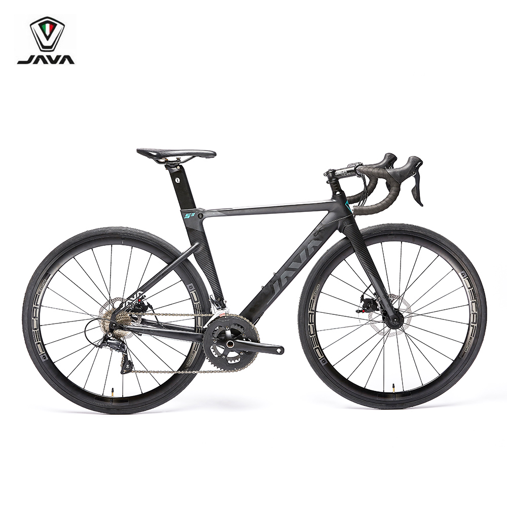 Road-Bike Frame Disc-Brake Carbon-Fork Racing Bicycle Java Siluro3 700C 18-Speed Aero