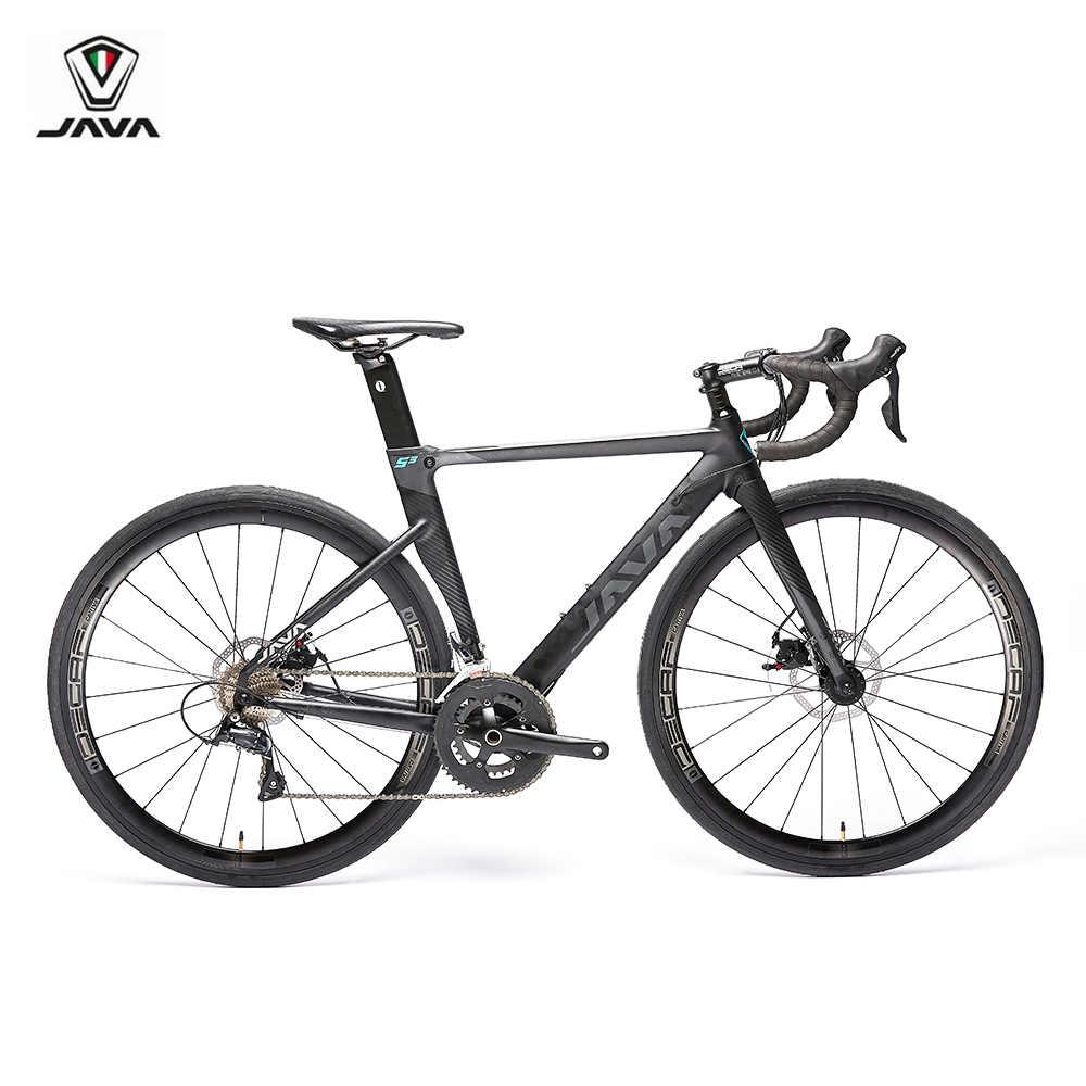 2019 JAVA SILURO3 дорожный велосипед 700C алюминиевая рама с карбоновой вилкой дисковый тормоз R3000 18 Скоростной Аэро гоночный велосипед