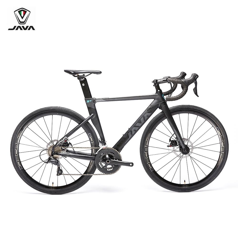 2019 JAVA SILURO3 vélo de route 700C cadre en aluminium avec fourche en carbone frein à disque R3000 18 vitesses Aero vélo de course