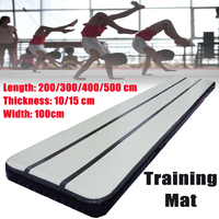 2/3/4M Airtrack Gymnastics Mat Roller Inflatable GYM Air Track Mat Home Training Sports Protector
