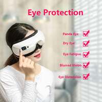 Relax Acupuncture Points Electric Air Pressure Eye Massager Health Care Vibration Heating Relaxation Eye Massage Adjustable Size
