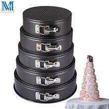5 teile/satz Backform Runde Form Kuchenform Stahl Springform Pan Set Abnehmbare Bottom Kuchen Dekorieren Tools