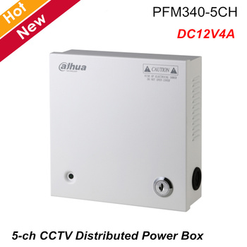 Dahua DC12V4A 5ch CCTV Distributed Power Box Wide voltage input AC90~264Vac Professional wall-mounted install PFM340-5CH