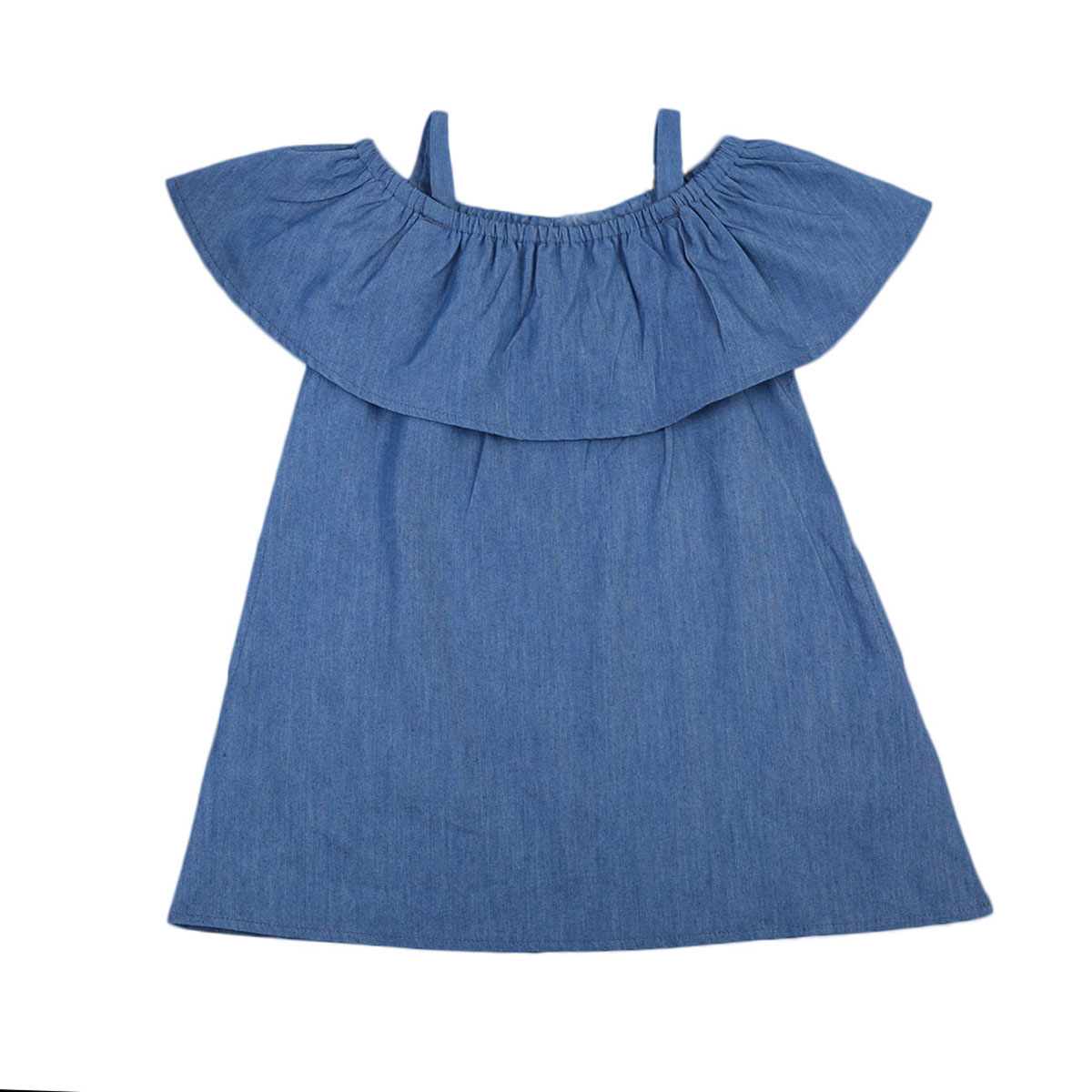 2017 Denim Dress Kids Baby Girl Dress Children Denim Girls Party Dresses Girls Clothes 0-4Y